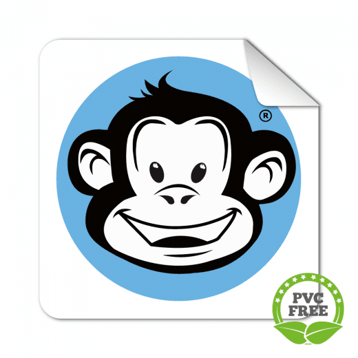 Square Rounded Corner Stickers - PVC Free Paper