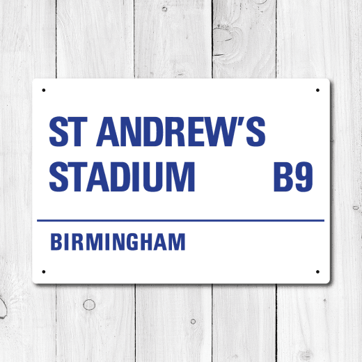 St Andrew's Stadium, Birmingham Metal Sign