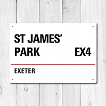 St James' Park, Exeter Metal Sign
