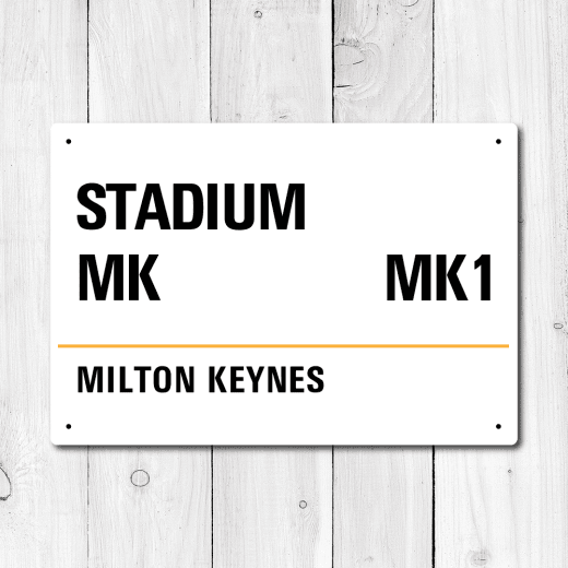 Stadium MK, Milton Keynes Metal Sign