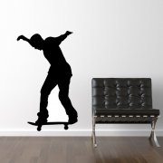 Standing Skateboarder Wall Sticker