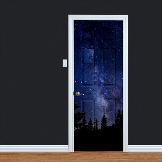 Star Sky at Night Printed Door
