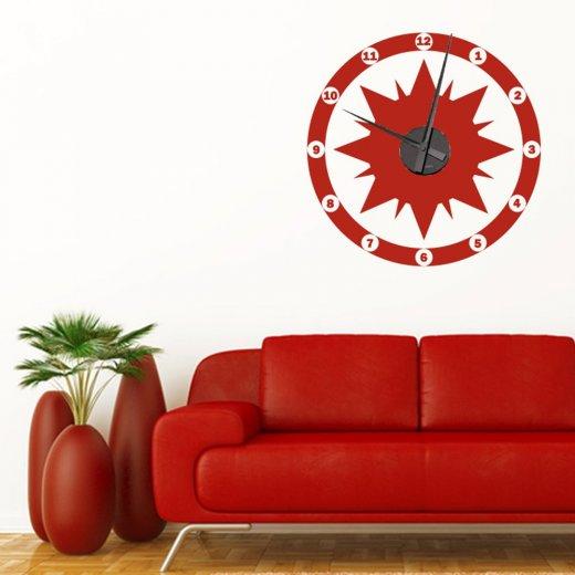 Star Wall Sticker Clock