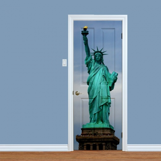Statue Of Liberty New York Printed Door