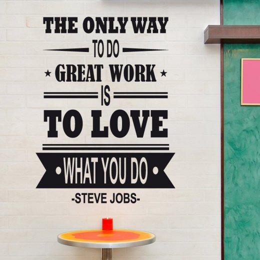 Steve Jobs Wall Sticker Quote