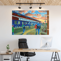 Stockport County, Edgeley Park Football Ground Wall Sticker