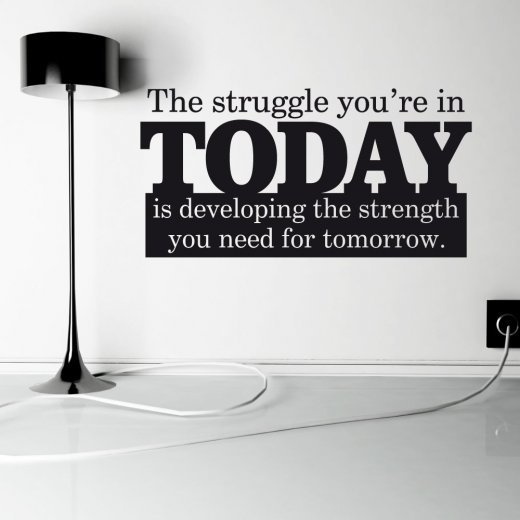 Strength Wall Sticker Quote