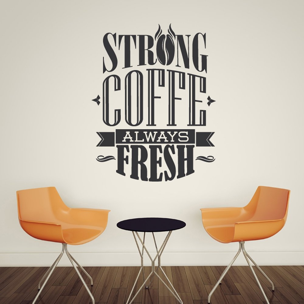 Strong coffee wall sticker quote wall sticker strong coffee wall sticker quote amipublicfo Images