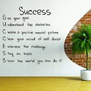 Success Motivational Quote Wall Sticker