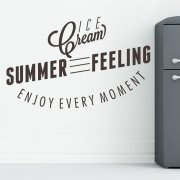 Summer Kitchen Feeling Wall Sticker Quote