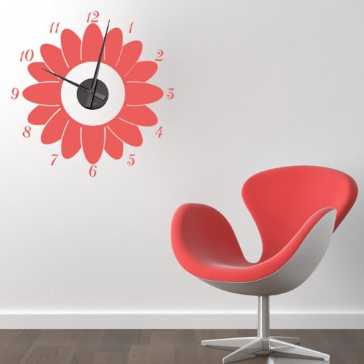 Sunflower Wall Sticker Clock
