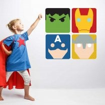 Super Hero Wall Sticker Pack