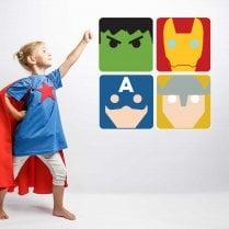 Super Hero Wall Sticker Pack