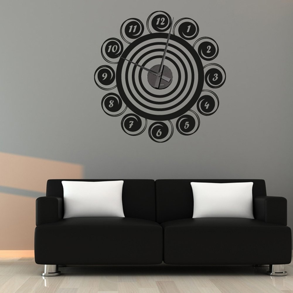 swirls wall sticker clock wall chimp uk steampunk clock wall decal vinyl text wall by