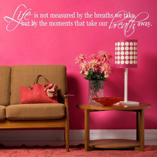Take Our Breath Away Wall Sticker Quote