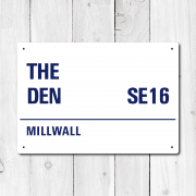The Den, Millwall Metal Sign