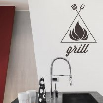 The Flame Grill Wall Sticker