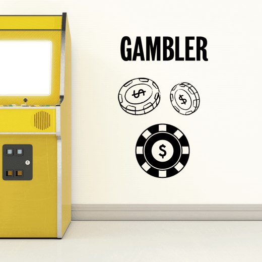 The Gambler Wall Sticker