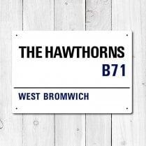 The Hawthorns, West Bromwich Metal Sign