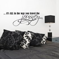 The Journey Wall Sticker Quote