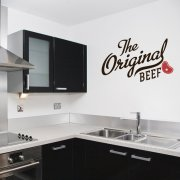 The Original Beef Wall Sticker Quote