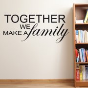 Together Family Wall Sticker Quote