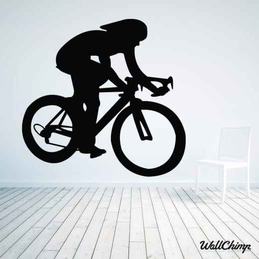 Track Bike Racer Wall Sticker