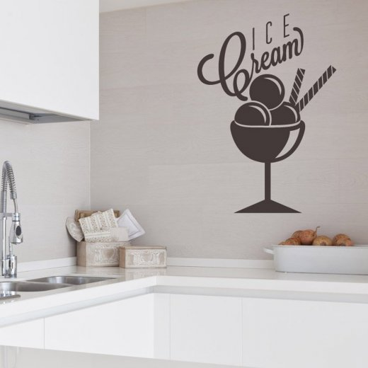 Triple Ice Cream Wall Sticker