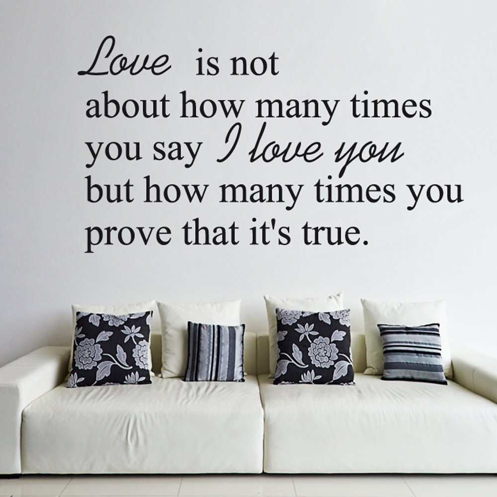 Love Wall Quotes: True Love Wall Sticker Quote