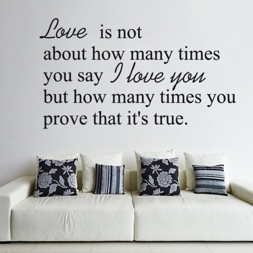 True Love Wall Sticker Quote