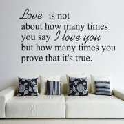 True Love Wall Sticker Quote