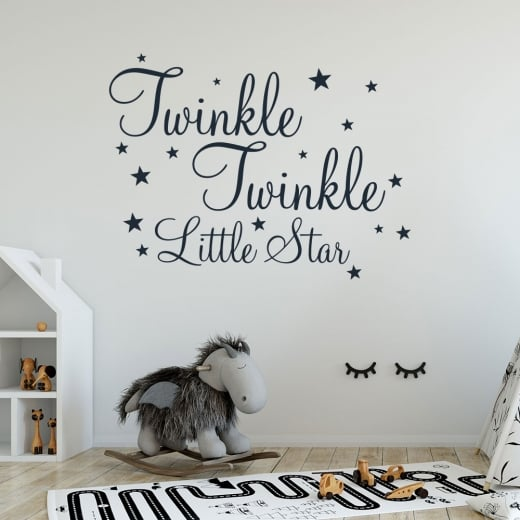 Twinkle Little Star Wall Sticker Quote