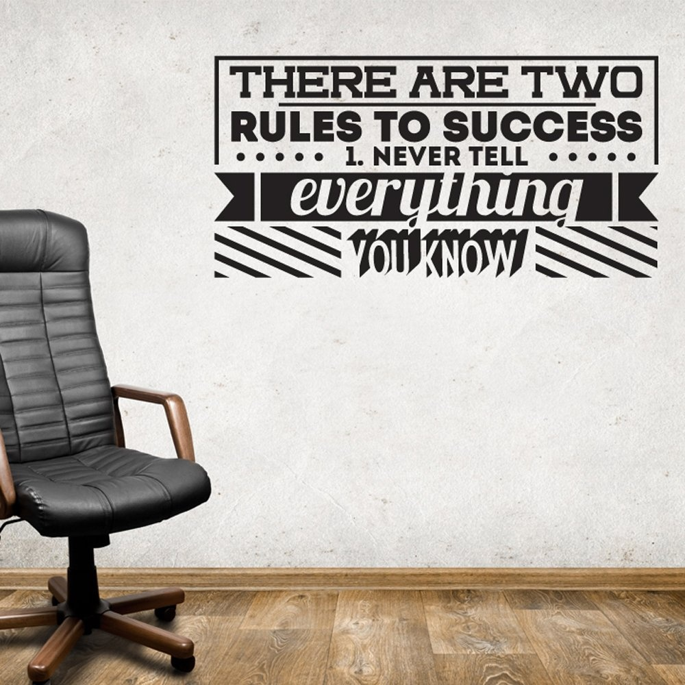 Two Rules For Success Two Rules to Success Wall