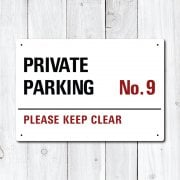 UK Supplied Personalised Private Parking Metal Sign