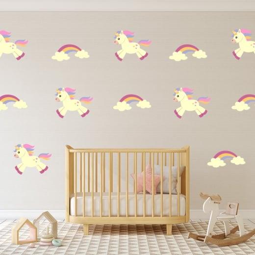 Unicorn & Rainbow Printed Sticker Pack