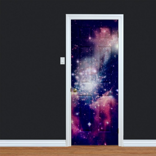 Universe Space Printed Door Design