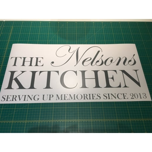 Vanessa Nelson Custom Kitchen Wall Sticker WC541QT