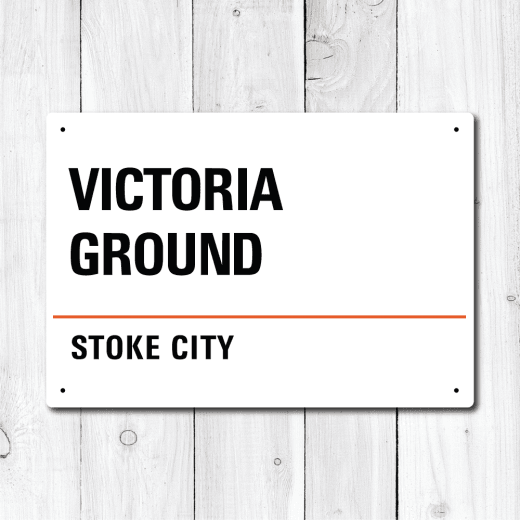 Victoria Ground, Stoke City Metal Sign