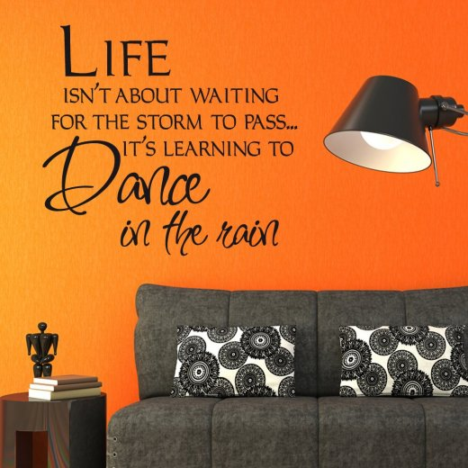 Wait For The Storm To Pass Wall Sticker Quote