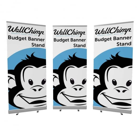 Wall Chimp 3 x Budget Banner Stands