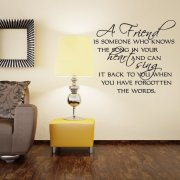 A Friend Wall Sticker Quote