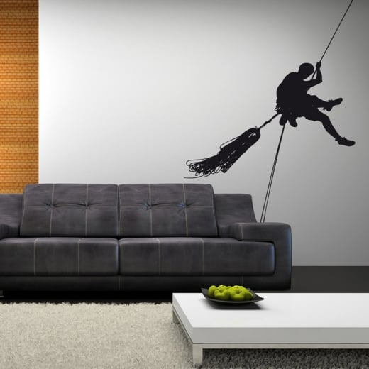 Wall Chimp Abseiler Rope Wall Sticker