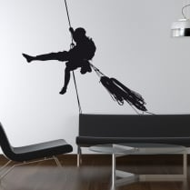Abseiler Wall Sticker