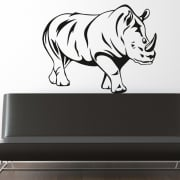 African Rhino Wall Sticker