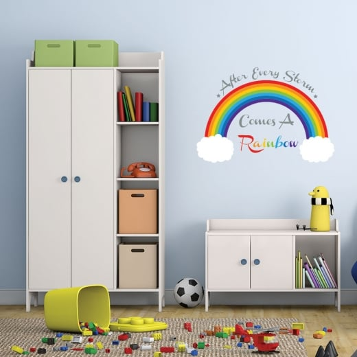 Wall Chimp After Every Storm Comes A Rainbow Printed Wall Sticker