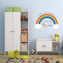 After Every Storm Comes A Rainbow Printed Wall Sticker
