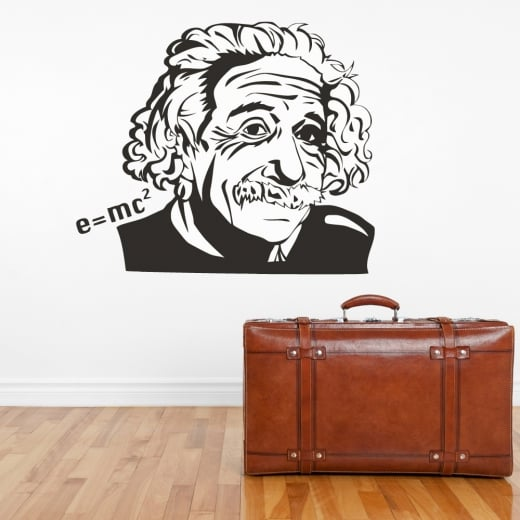Wall Chimp Albert Einstein E=mc2 Wall Sticker