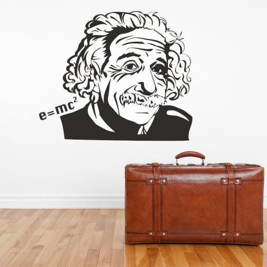 Wall Chimp Albert Einstein E=mc2 Wall Sticker