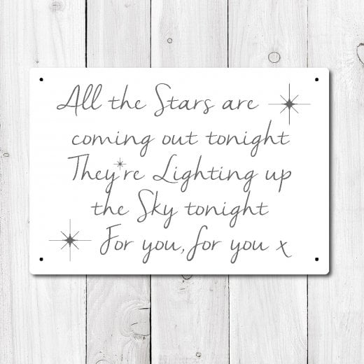 Wall Chimp All The Stars Are Coming Out Tonight Metal Sign