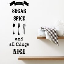 All Things Nice Kitchen Wall Sticker Quote